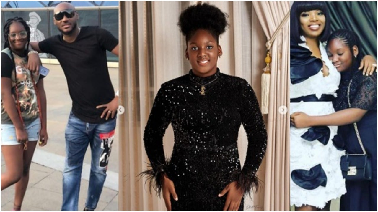 Tuface's Daughter, Isabella Slams Troll Who Tried To Body Shame Her
