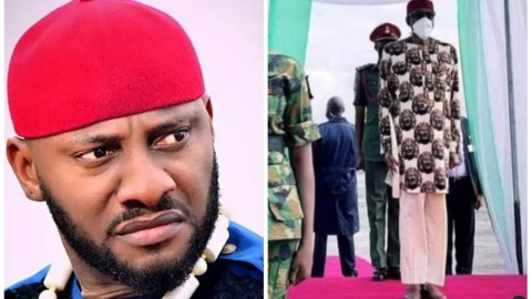 Yul Edochie Reacts As Nigerians Demand To Know President Buhari's Designer, Says His Trouser Should Be The Country's Least Problem