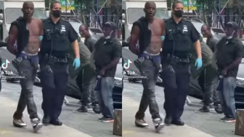 Man Sings, Vibes To Davido's 'IF' Song Despite Being Arrested By US Police [Video]