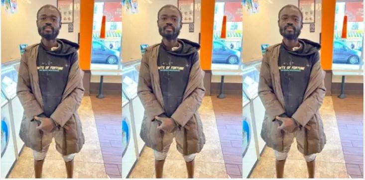 Ghanaian man is homeless in New York City
