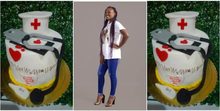Cute Ghanaian Nurse celebrates birthday