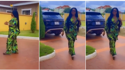 Dr. Kwaku Oteng's 5th Wife Linda Achiaa Shows Off Her Mansion And Range Rover To Prove That Dr. Adonko Is Taking Good Care of Her