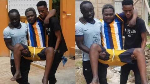(+VIDEO) Crippled Frank Fiifi Gharbin reveals deep secrets and occultism in Kumawood and actors who uses juju
