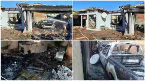 Man sacked from his job returns only to find his house and cars reduced to ashes
