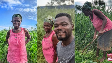 Nana Tea Warms Hearts As He Puts A Smile On The Face Of A 72 Year Old Woman By Doing This (+Photos)