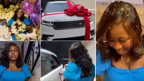God when will I get boo like this – Ladies on social media cannot keep quiet as man surprises wife with Range Rover, other gifts on her birthday (Video)