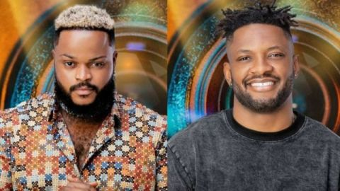 BBNaija's Whitemoney Fulfills Promise To Cross As He Storms His House To Gift Him Shoes (Video)