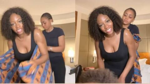 """""""They Both Need Tutorials"""" – See Reactions As Regina Daniels Storms BBNaija's Khafi House To Teach Her How To Back Her Baby"""