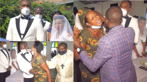 Angry wife storms husband's secret wedding with new woman; hires the media to film her as she ruins the event