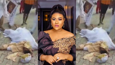 Popular Nigerian actress, Nkechi Blessing passes out at mother's burial [Video]
