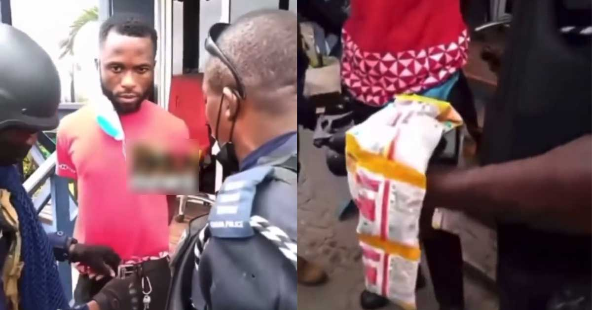 Young man arrested for stealing cerelac from Shoprite