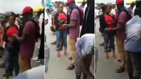 (+VIDEO) Watch how a two ladies were conned in broad daylight at Circle