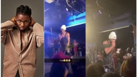 I don't want to see this girl here'– Moment Omah Lay sacks lady for not singing, dancing at his concert (Video)