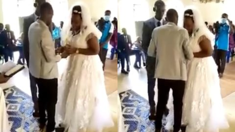 Woman Who Couldn't Believe She Is Finally Married Sobs Like A Baby On Wedding Day (+VIDEO)