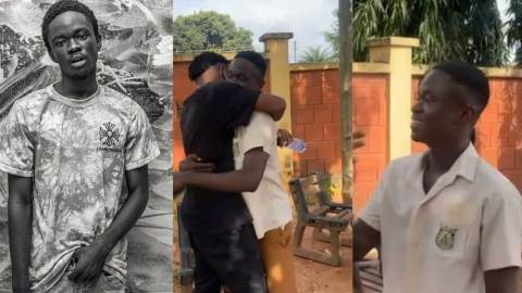 Yaw Tog says he will pursue nursing after completing SHS – Black Sherrif reveals; Yaw Tog reacts