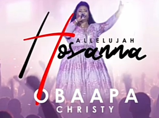 """Here is Obaapa Christy – Hallelujah Hosanna. Renowned Ghanaian female gospel singer and songwriter Obaapa Christy has blessed her fans with another classic number called """"Hallelujah Hosanna""""."""