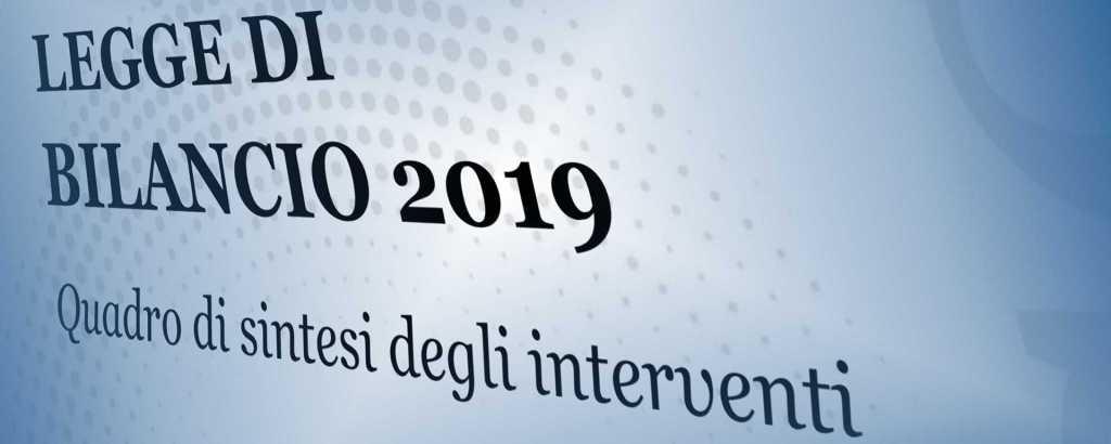 Legge Bilancio 2019