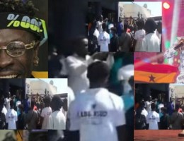 Video: Massive Crowd 'Mob' Shatta Wale After His Interview On Joy FM
