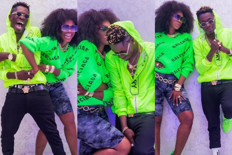 Shatta Wale hangs out with Becca
