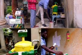 Man manufacture water-powered generator