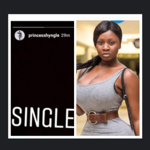 Screenshot: Princess Shyngle  Announces Return To Social Media; Says, 'I'm Single Again; It Ended In Tears'