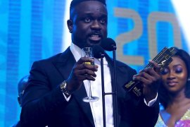 Sarkodie hails fans at MTN 4Syte TV Music Awards