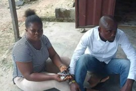 lady and boyfriend arrested