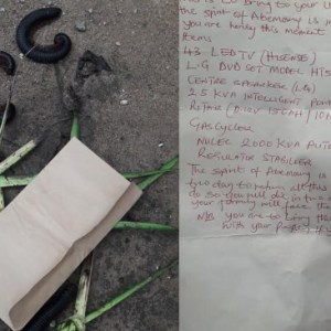 Thief Visited By Over 500 Millipedes And Handed A  Letter To Return Items He Stole Or Die In 2-Days (+Photos)