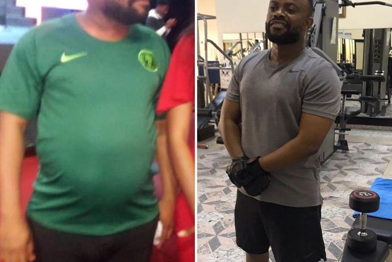 Okon of Lagos flaunts body transformation