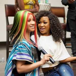 Photos: Here is What Akuapem Poloo Is Saying After Cardi B Follows Her on Instagram And Also Said She's Her Twin