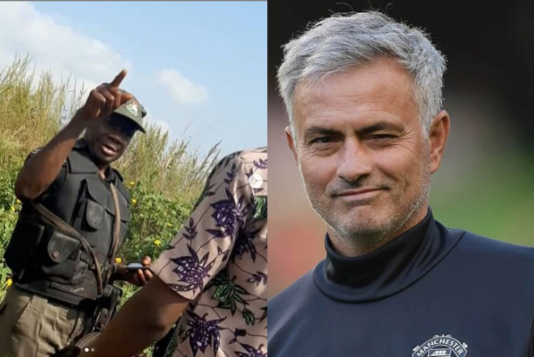 police nearly arrests young man for using Jose Mourinho as dp