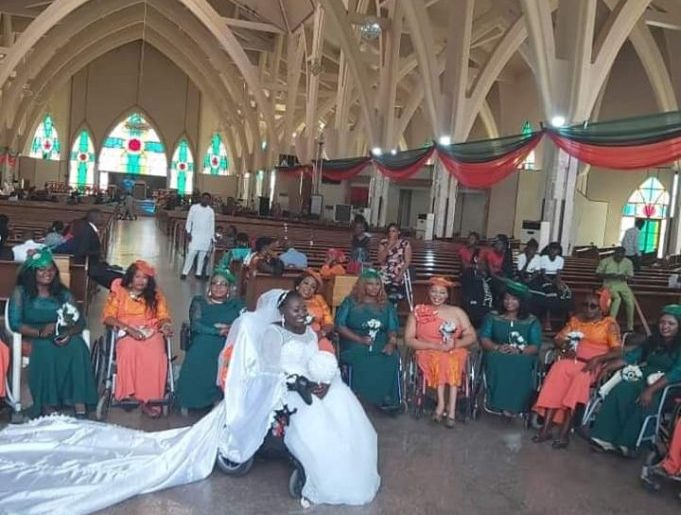 Disabled lady marries