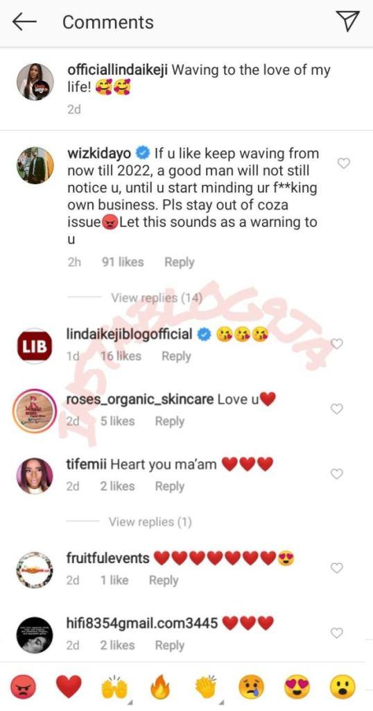 Wizkid jabs Linda Ikeji, tells her to mind her f**king business 1