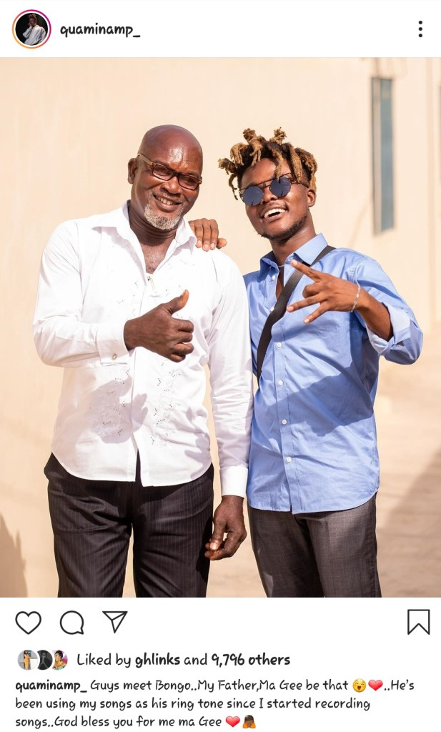 Father & Son moments: Quamina MP shares smile with his father 2