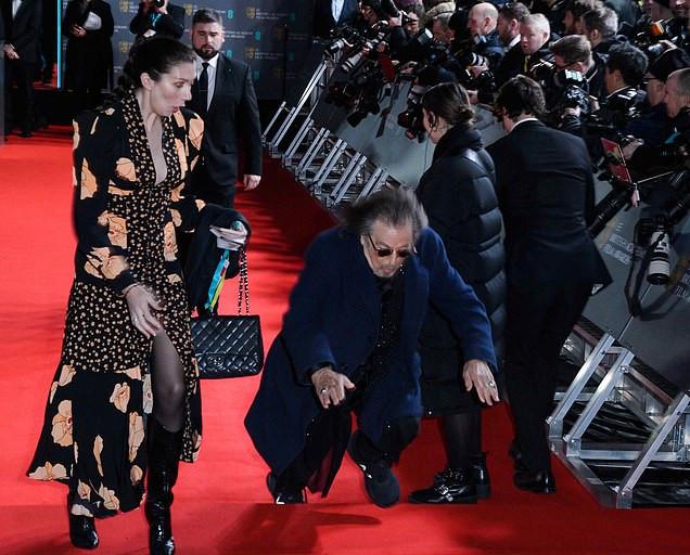 Al Pacino had a mishap at the Baftas Ceremony