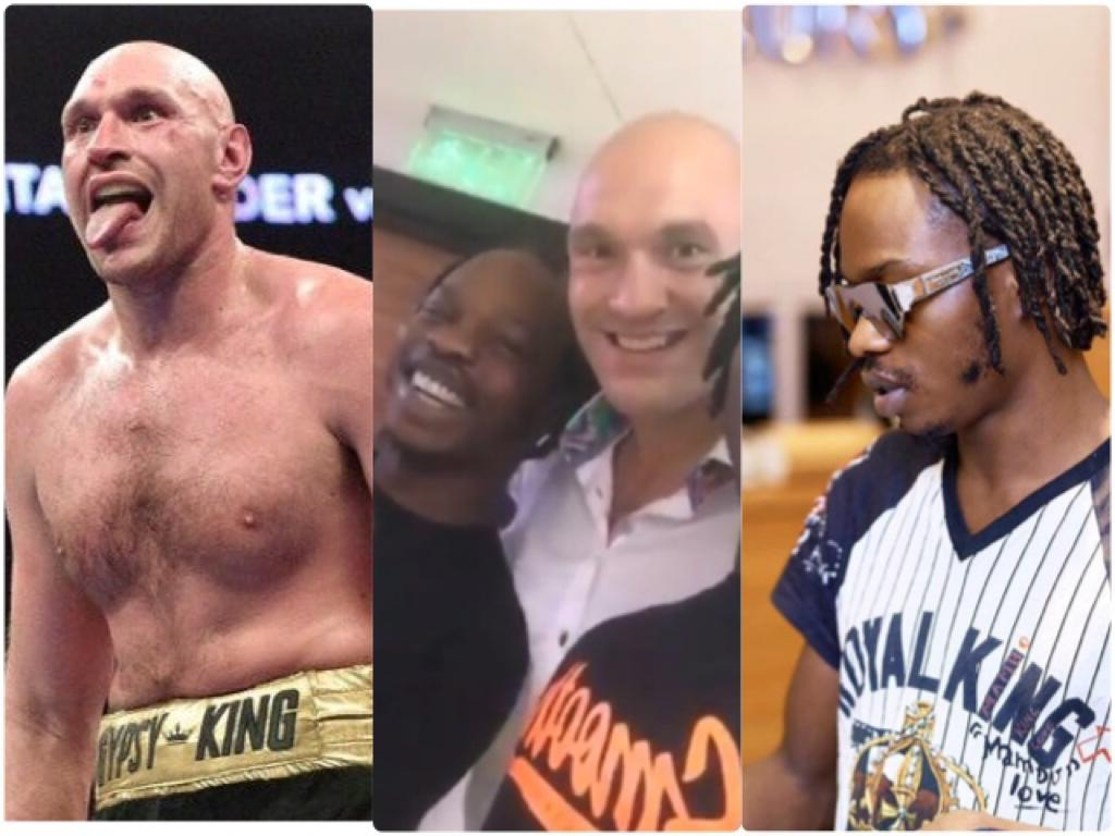 Image result for Naira Marley Hangs Out With Tyson Fury (Video)