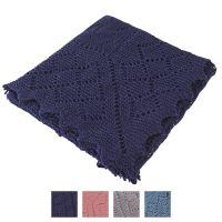 Classic Shetland style merino wool shawl