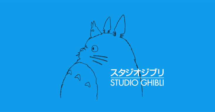 This picture is logo of Studio Ghibli. These characters are Totoro, appeared by 'My Neighbor Totoro' The reason why logo of studio Ghibli use Totoro is very interesting! If you are interested in it, please search the reason!!