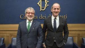 I governatori della Lombardia, Roberto Maroni, e del Veneto, Luca Zaia (fonte immagine: TgCom24)