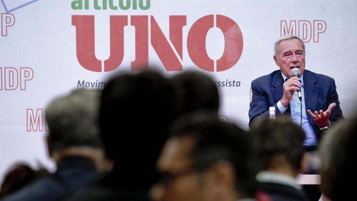 Il presidente del Senato, Pietro Grassom alla festa di MDP. (fonte immagine: quotidiano.net)