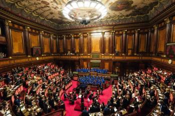 Il coro Papageno dell'associazione Mozart14 durante la sua esibizione al Senato.