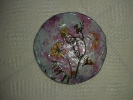 Wild flowers inlaid in Coaster