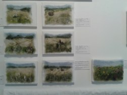 Mini versions of Wheat and Hayfield composition quilt