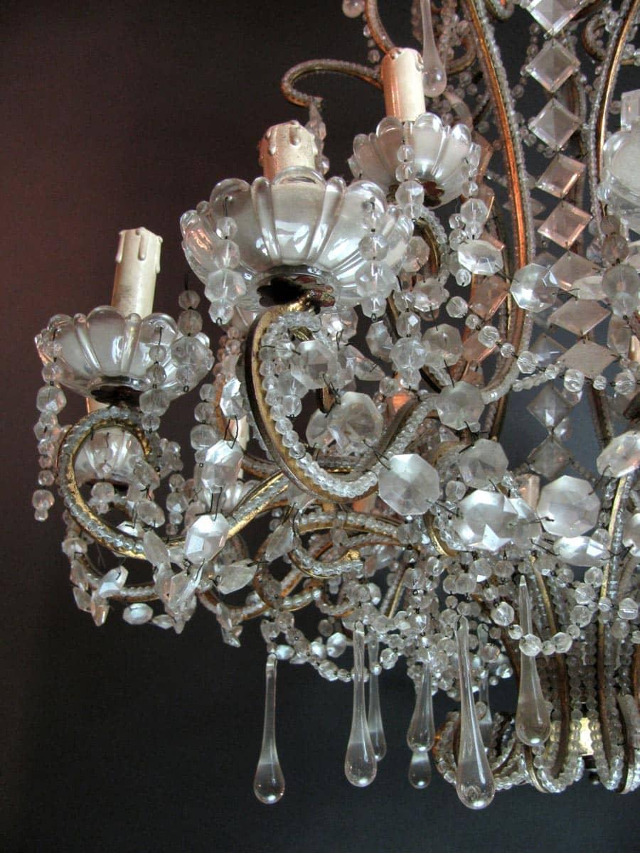 Bobeche lampadari cristallo boemia ø12 cm, foro ø23 mm, con 5 fori. Lampadario Antico In Cristallo Di Bohemia 18 Luci Vendita Online Ghilli Antichita Milano