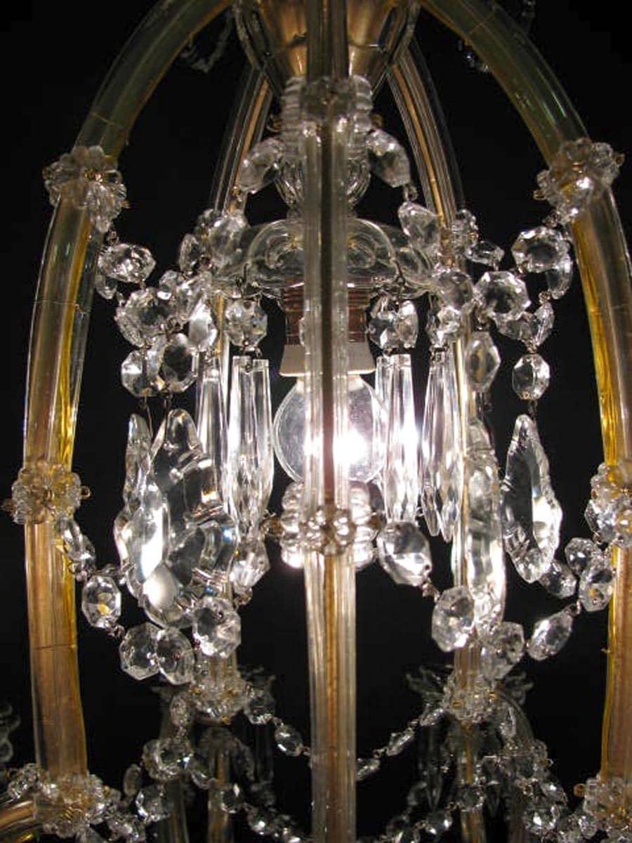 Vaso antico in cristallo di boemia al piombo : Lampadario In Cristallo Di Boemia Maria Teresa 11 Luci