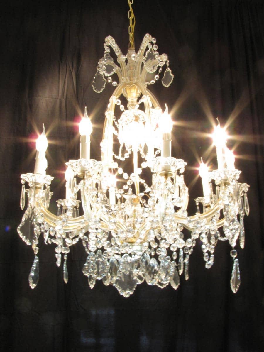Lampadario in cristallo di boemia stile anni '40. Lampadario In Cristallo Di Boemia Maria Teresa 11 Luci