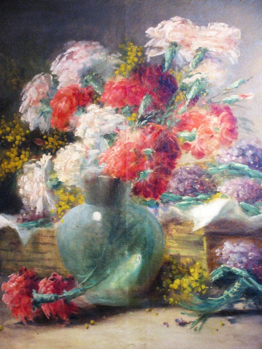 Natura Morta di Fiori francese ad olio su tela