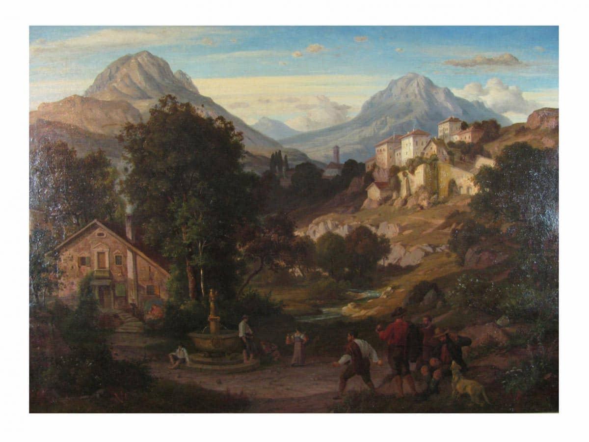 Eduard Cohen Paesaggio di Montagna 1866