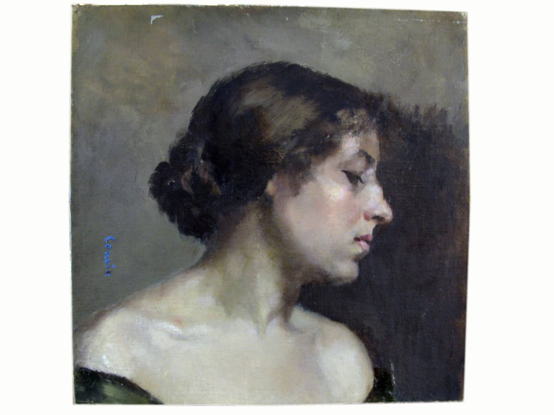 Ritratto di Donna Belle poque Couvin