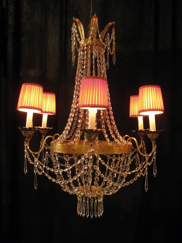 Lampadario antico Luigi XVI a sei luci